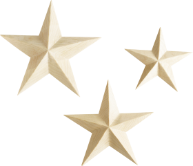 Wooden Star PNG