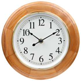 Wooden Wall Clock PNG