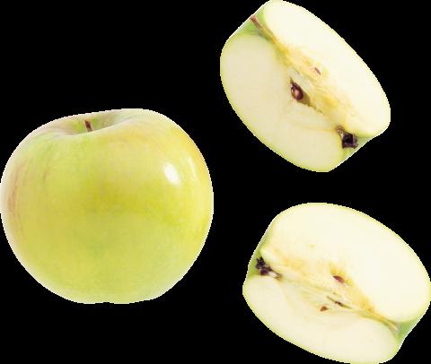 Yellow Apple Cut PNG