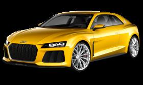 Yellow Audi Car PNG