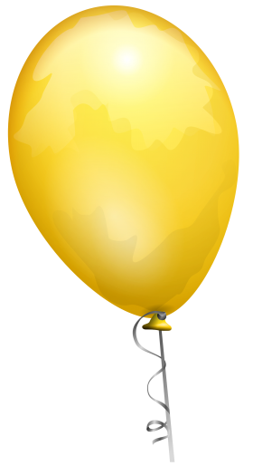 Yellow Party Ballon PNG