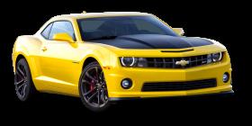 Yellow Chevrolet Camaro 1LE Car PNG