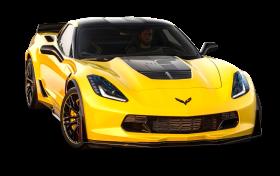 Yellow Chevrolet Corvette Z06 C7 Car PNG