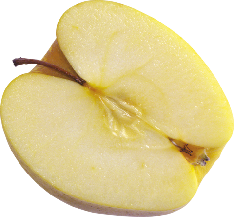 Yellow Cut apple PNG