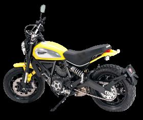 Yellow Ducati Scrambler PNG