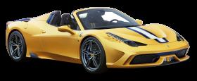 Yellow Ferrari 458 Speciale Car PNG