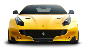 Yellow Ferrari F12tdf Car Front PNG
