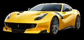 Yellow Ferrari F12tdf Car PNG