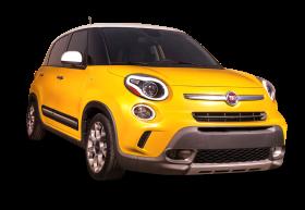 Yellow Fiat 500l Car PNG