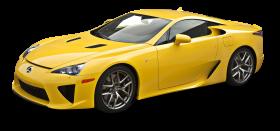 Yellow Lexus LFA Car PNG