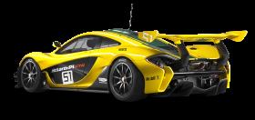 Yellow McLaren P1 GTR Car PNG