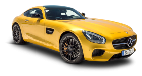 Yellow Mercedes AMG GT Solarbeam Car PNG