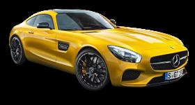Yellow Mercedes Benz AMG GT Car PNG