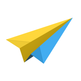 Yellow  Paper Plane PNG