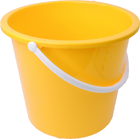 Yellow PLastic Bucket PNG