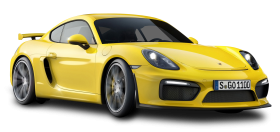 Yellow Porsche Cayman GT4 Car PNG
