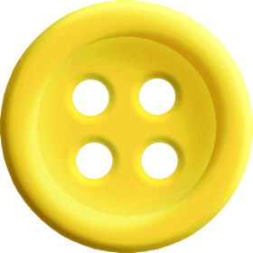 Yellow Sewing Button With 4 Hole PNG