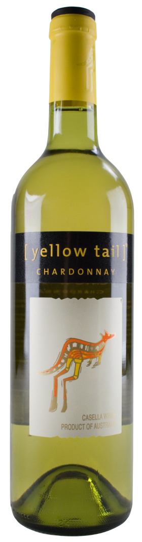 Yellow Tail Wine Bottle PNG