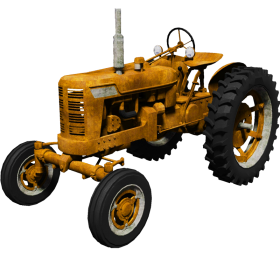 Yellow Tractor PNG