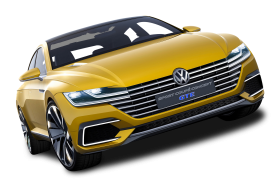 Yellow Volkswagen Sport Coupe GTE Car PNG