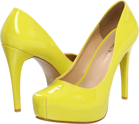 Yellow Women Shoe PNG