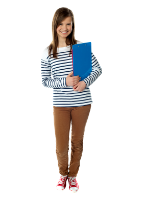 Young Girl Student PNG