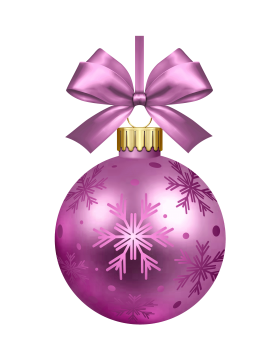 Purple Christmas Bauble PNG