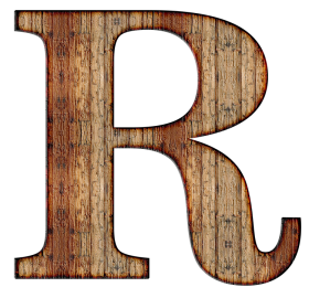 R Letter PNG