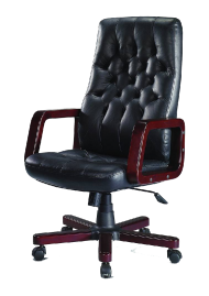 Red and black deskchair PNG