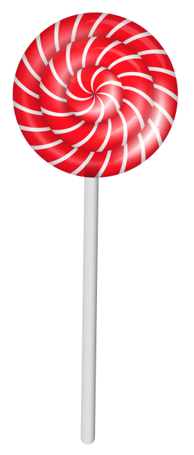 Red and White Lollipop PNG