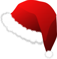 Fluffy Red Christmas Hat PNG