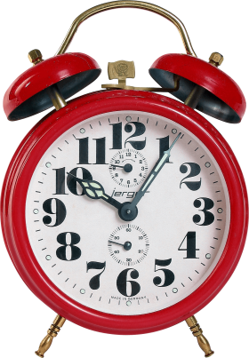 Red Clock PNG