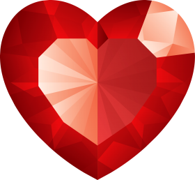 Red Crystal Heart PNG