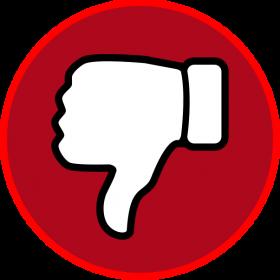 Red Dislike Symbol Emoji PNG