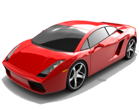 Red Edition  Lamborghini Gallardo Luxury Car PNG