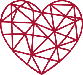 Red Gitter Heart PNG