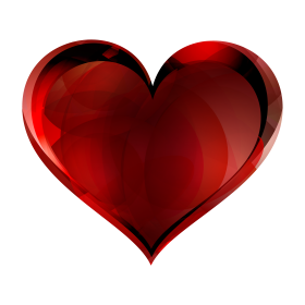 Red Glass Heart PNG