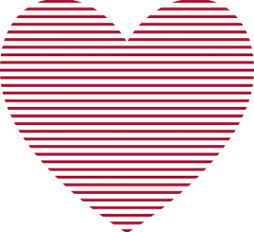 Red Heart Lines PNG