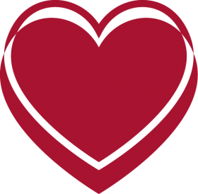 Red Heart with Reflexion PNG