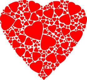 Red Hearts within a Heart PNG