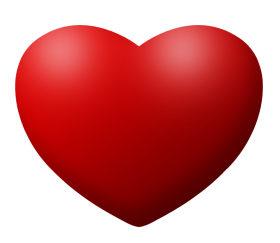 Red love Heart PNG