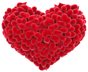 Red love Hearts PNG