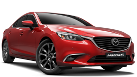 Red Mazda Car PNG