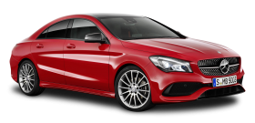Red Mercedes Benz CLA Car PNG