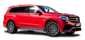 Red Mercedes Benz GLS Class Car PNG