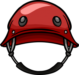 Red Military Helmet Clipart PNG