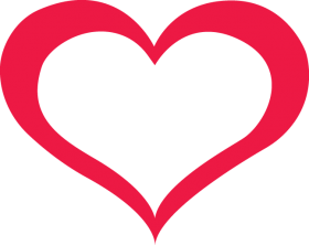 Red Outline Heart PNG