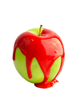 Red Paint on Apple PNG