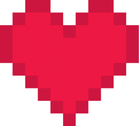 Red Pixel Heart PNG