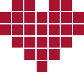 Red Pixeld Heart PNG